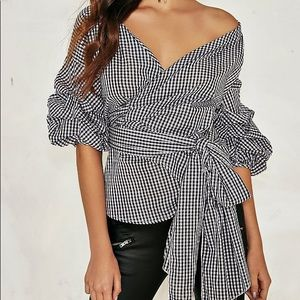 Nasty Gal Mille Wrap Top